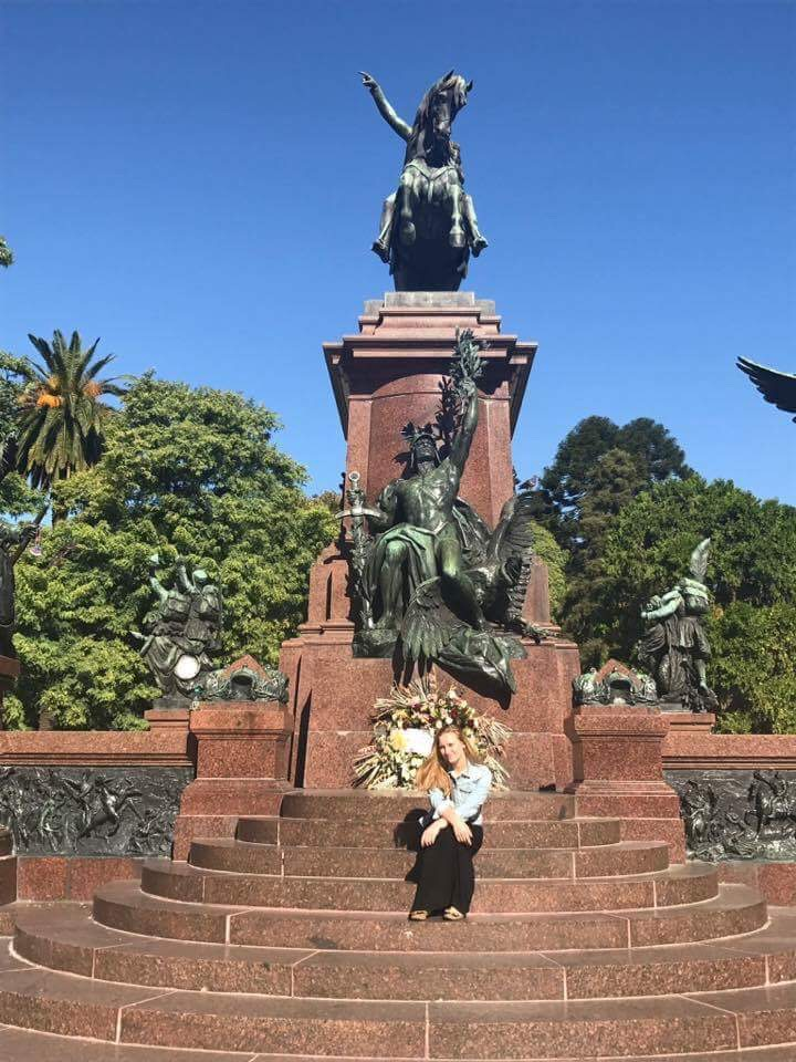 Truman student, Veronica Jewell, studying abroad in Buenos Aires, Argentina