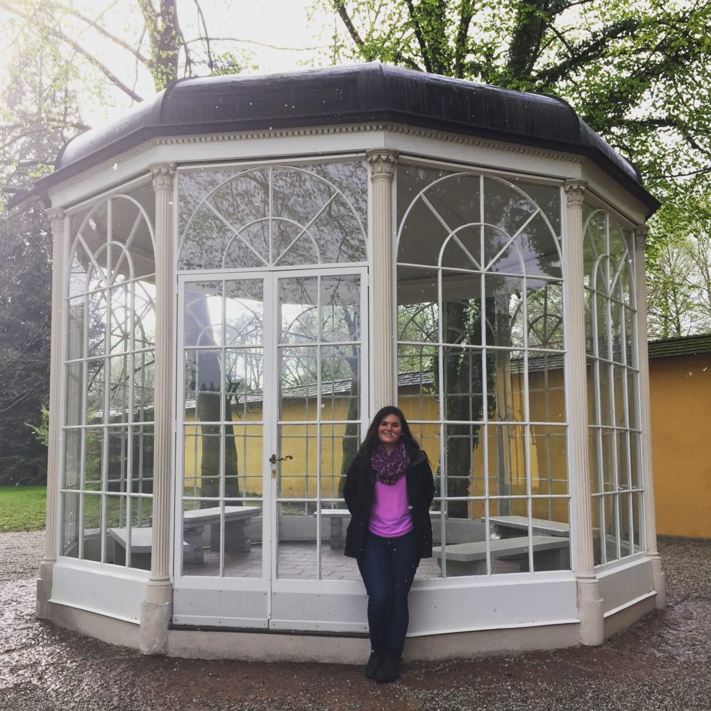 Austria Salzburg-Haley Meissen; Sound of Music Gazebo in Salzburg, Austria-the Sound of Music was filmed in Salzburg and I went on a tour of all of the locations they filmed