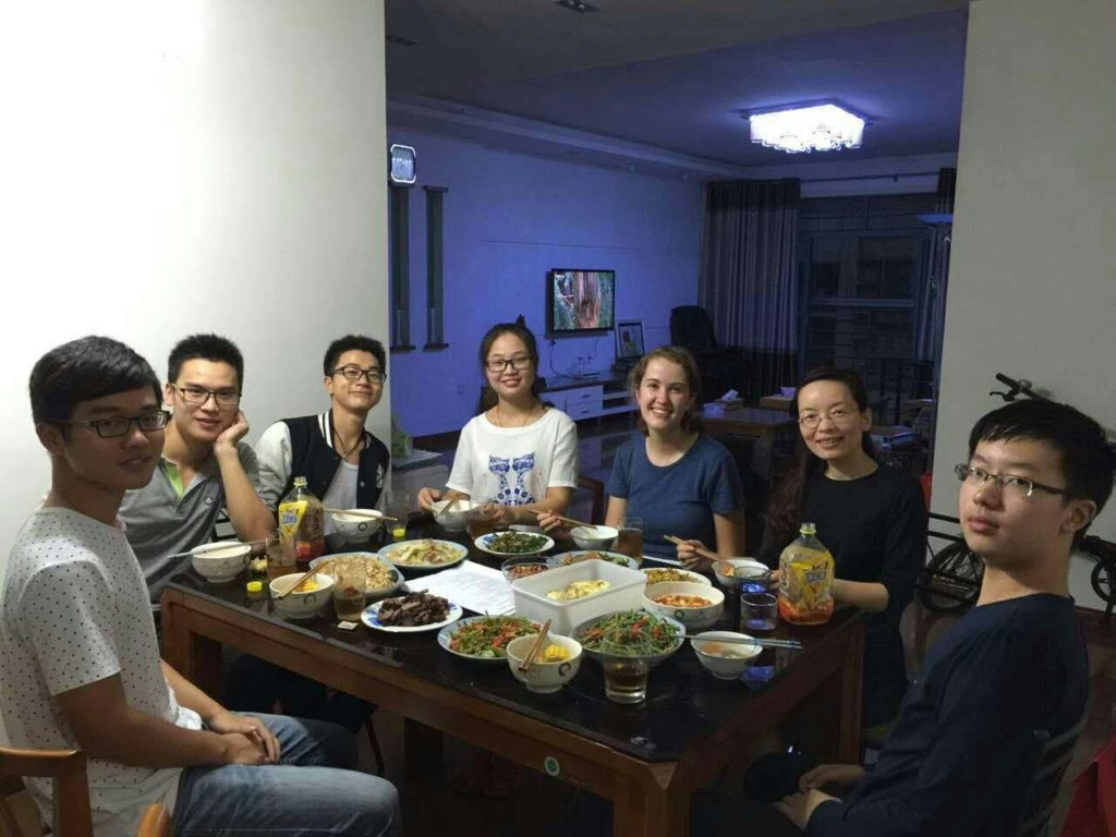 China ISEP- Stephanie Gruetze; Dinner with my assigned pair-share family at JUFE