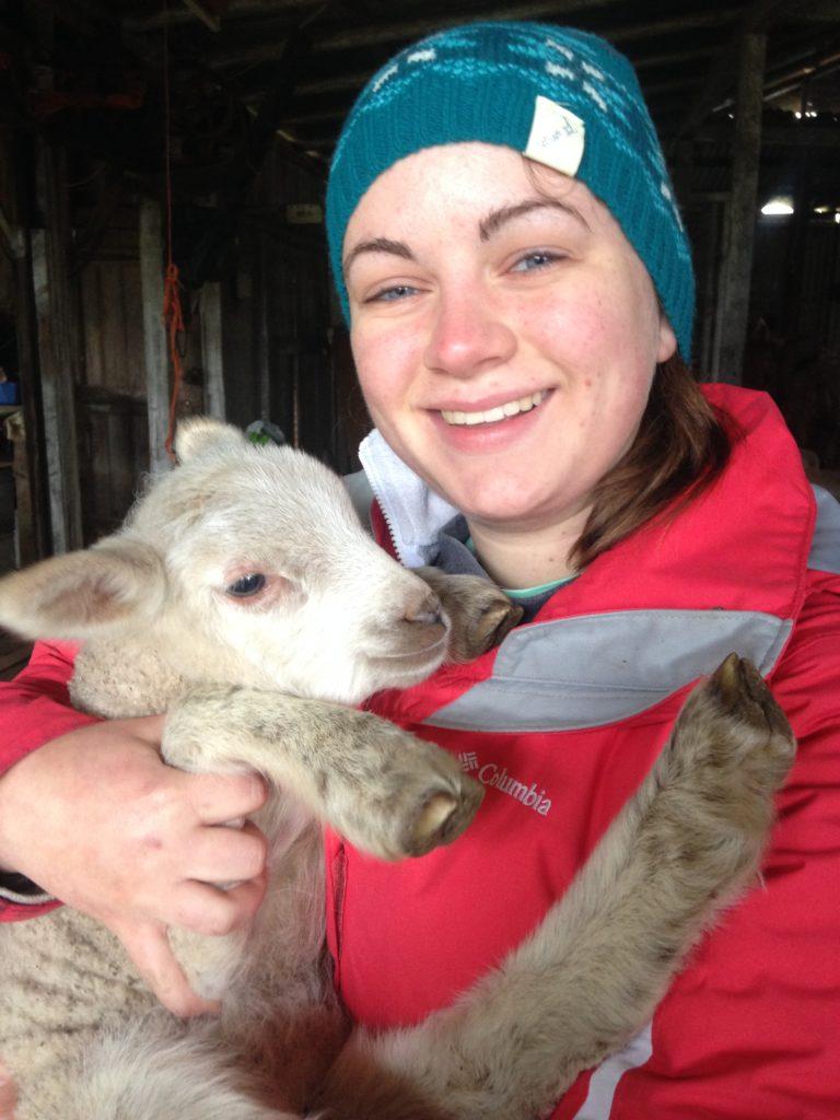 New Zealand Waikato- Caroline Blazer; I learned how to shear sheep on a farm in the Australian outback.