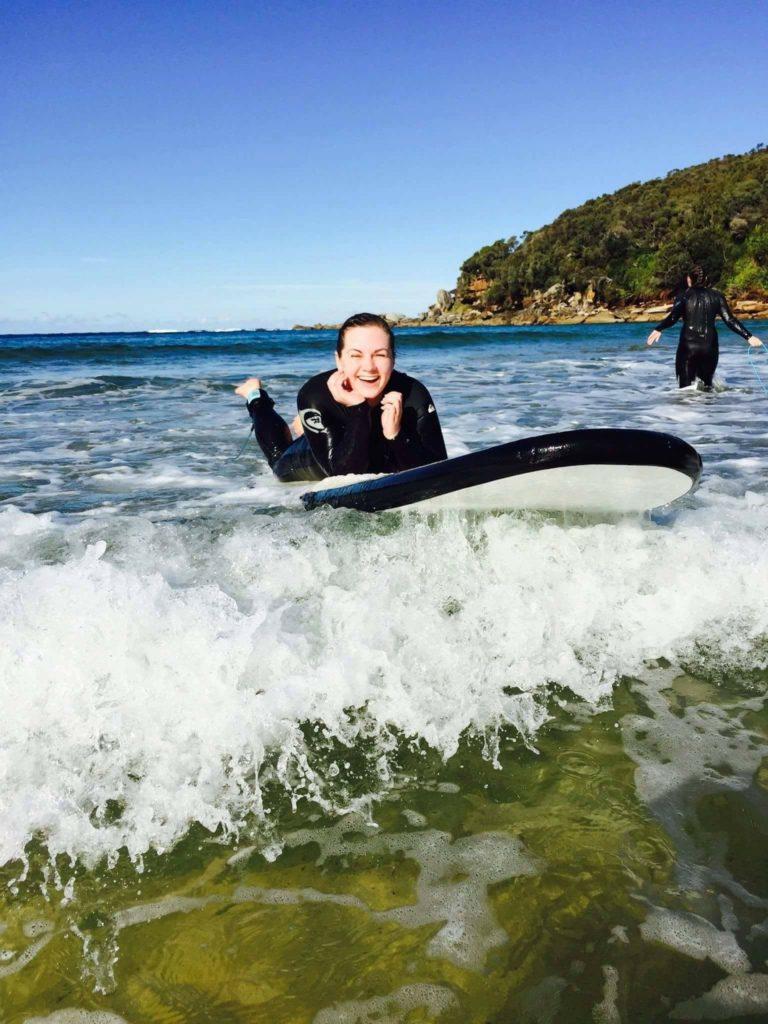 New Zealand Waikato- Caroline Blazer surfing in Royal National Park, near Sydney,