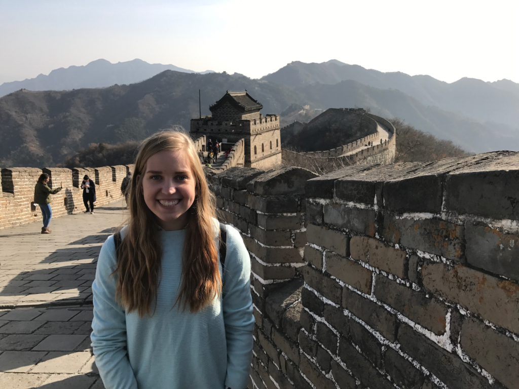 Truman student, Josephine Lampe, studying abroad in China